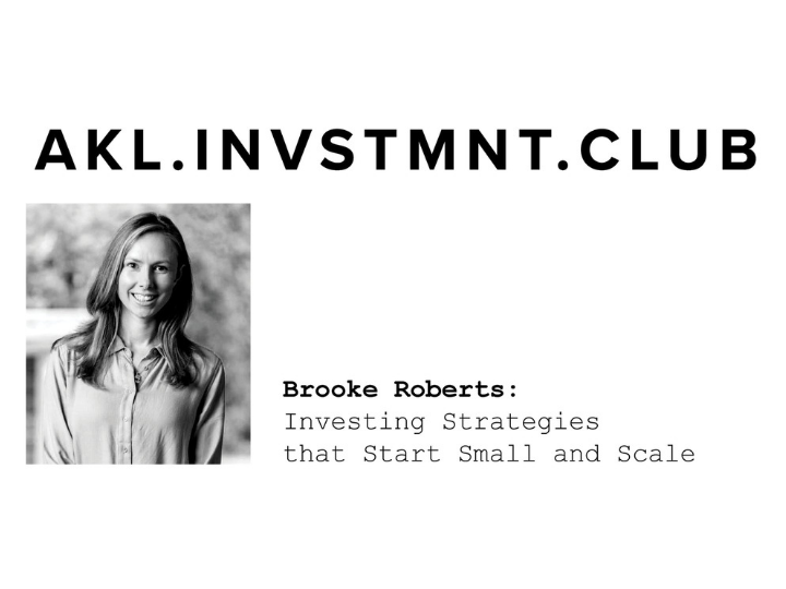 Investing Calendario.The Workshop Auckland Brooke Roberts Investing Strategies That